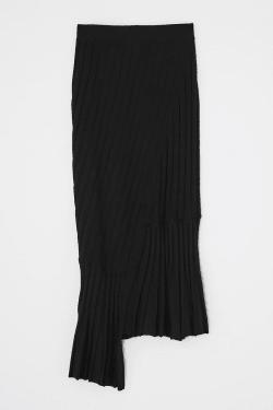 [M_] RIB KNIT ASSYMMETRIC Skirt