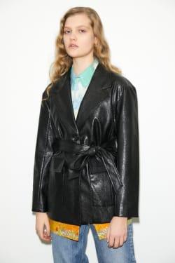 VINTAGE LIKE Faux LEATHER jacket