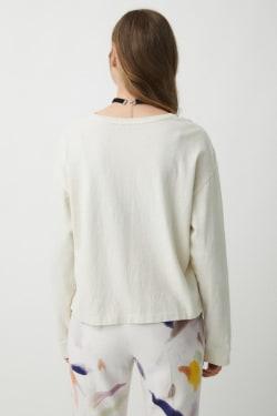 RERUM GARMENT DYE Long Sleeve T-shirt