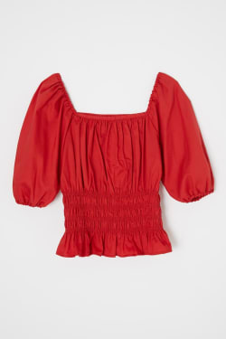 COMPACT SHIRRING blouse