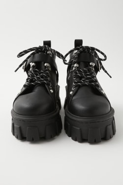 LACE UP TREKKING boots