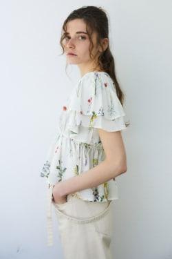 BOTANICAL RUFFLE blouse