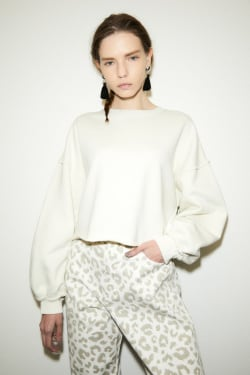 CROPPED VOLUME SLEEVE pullover