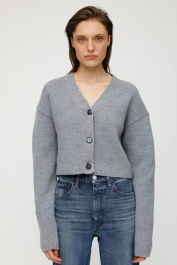 MV RIB STITCH SHORT CARDIGAN