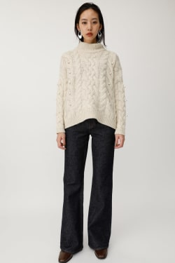 FAUX PEARL knit tops