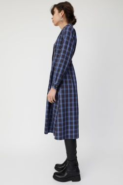 WAIST TUCK CHECK shirt dress