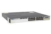 Cisco Catalyst WS-C3750X-24P-L Switch LAN Base License, Port-Side Air Intake