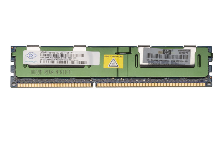 HP 8GB PC3-10600R 500205-071 Ref