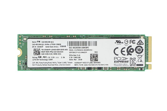 Dell 256GB SSD M.2 NVMe PCIe  546VP