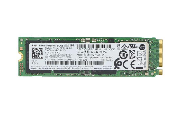 Dell 512GB SSD M.2 NVMe PCIe  9Y4V9