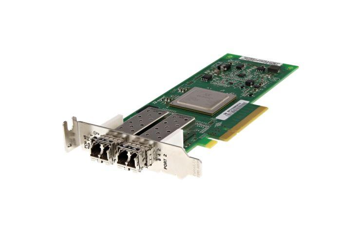Dell QLogic QLE2562L-DEL 8Gb SFP+ Dual Port Low Profile Fibre HBA - RW9KF - Ref