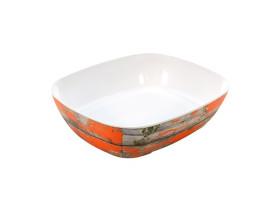 Tarjoilukulho melamiini puukuvio/oranssi GN 1/2