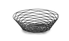 Leipäkori metallilanka musta K 5 cm Ø 20 cm