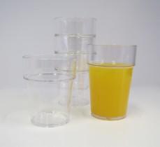 Yleislasi pinottava kirkas muovi 23 cl