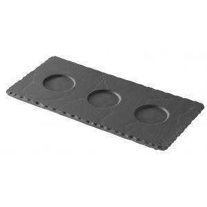 Tarjoiluvati 3 os. musta 25x12x0,7 cm