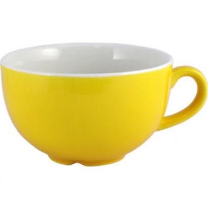 Cappuccinokuppi keltainen 23 cl