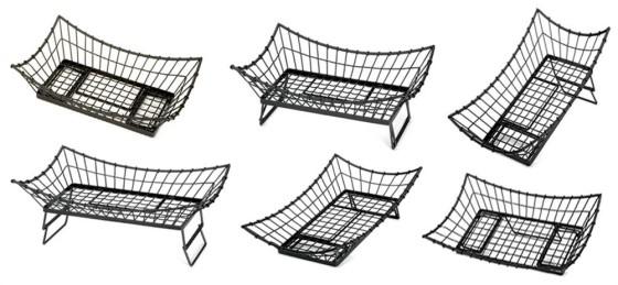Leipäkori metallilanka musta 53x33x14 cm