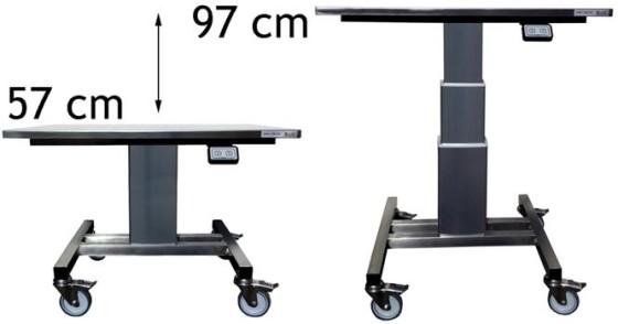 Nostopöytä rst 800x650x570-970mm Limbo