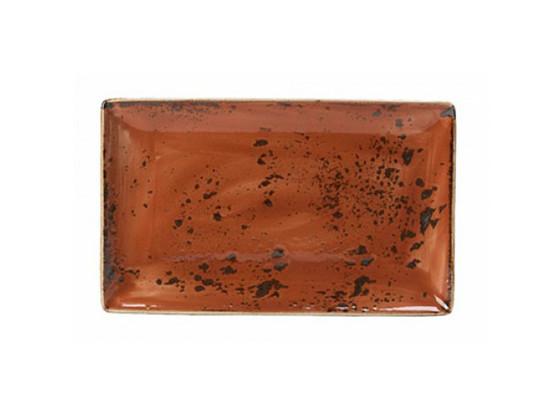 Lautanen suorakaide punainen 33x19 cm