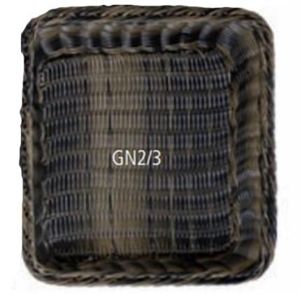 Leipäkori tummanruskea GN 2/3 K 10 cm