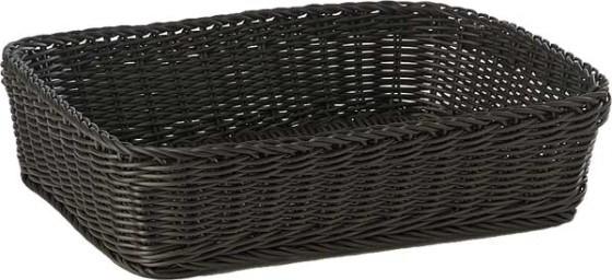 Leipäkori pinottava musta 40 x 30 x 10 cm