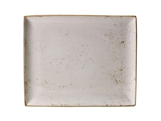 Lautanen suorakaide valkoinen 33x19 cm