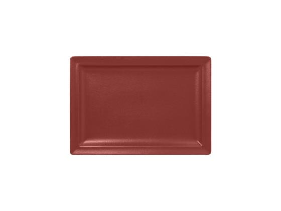 Lautanen suorakaide tummanpunainen 33x23 cm