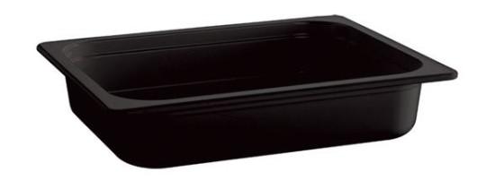 Vati melamiini musta GN 1/2-100 4,7 L