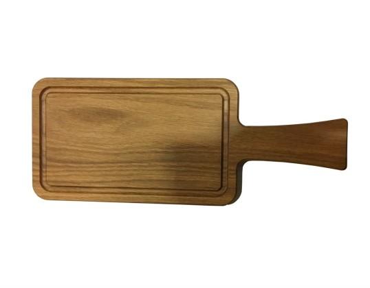 Puualusta tammi reunaurituksella 37/25x15x2 cm