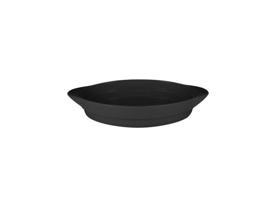Pata soikea musta 37,2x25x6 cm