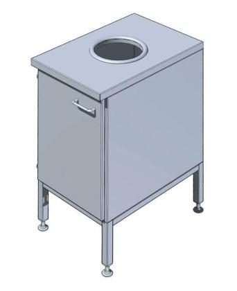 Jätteenlajitteluvaunu EK60R