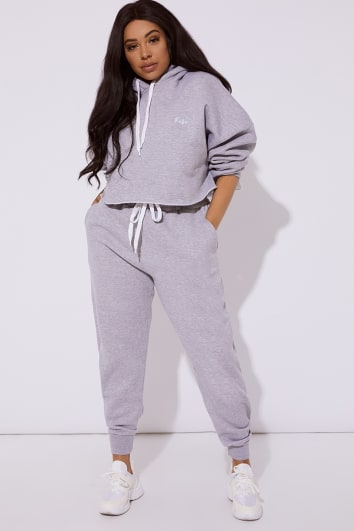 c1b82783e6f CURVE DANI DYER BABE GREY EMBROIDERED JOGGERS