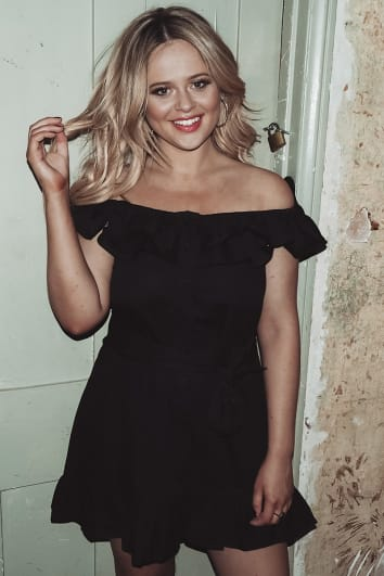 EMILY ATACK BLACK FRILL SHOULDER TIE WAIST BUTTON DOWN DRESS