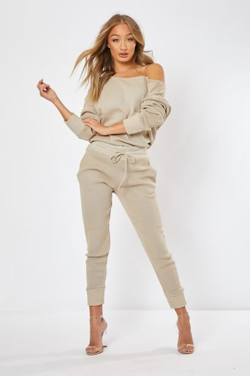 2409d8fa15d50 DAGNY STONE KNITTED CO-ORD TOP AND JOGGERS