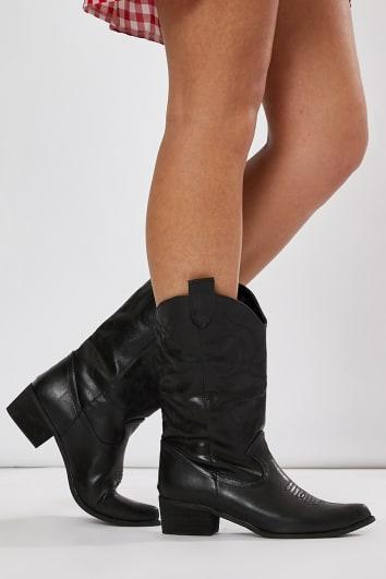 b7d85712943 In stock. JYANA BLACK WESTERN BOOTS