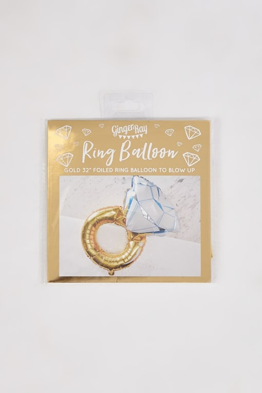 GINGER RAY FOIL DIAMOND RING BALLOON