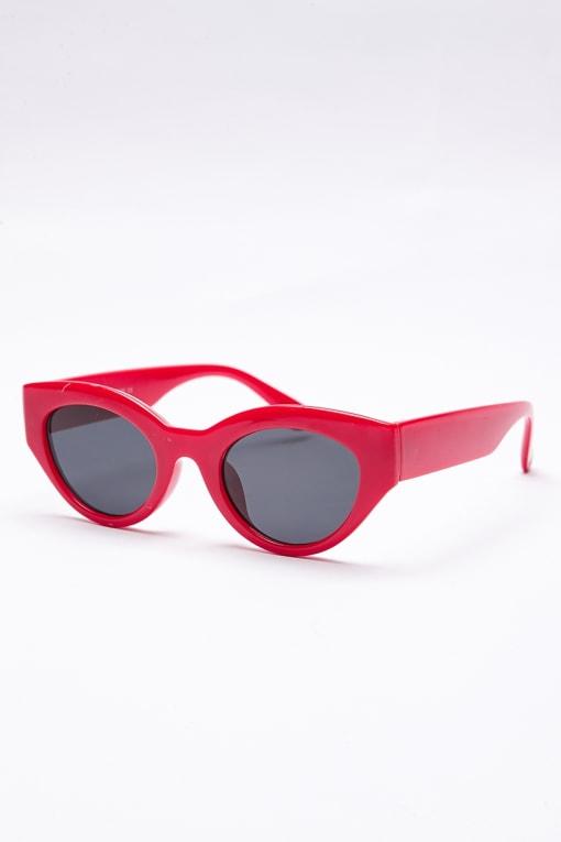 RED OVAL RETRO SUNGLASSES