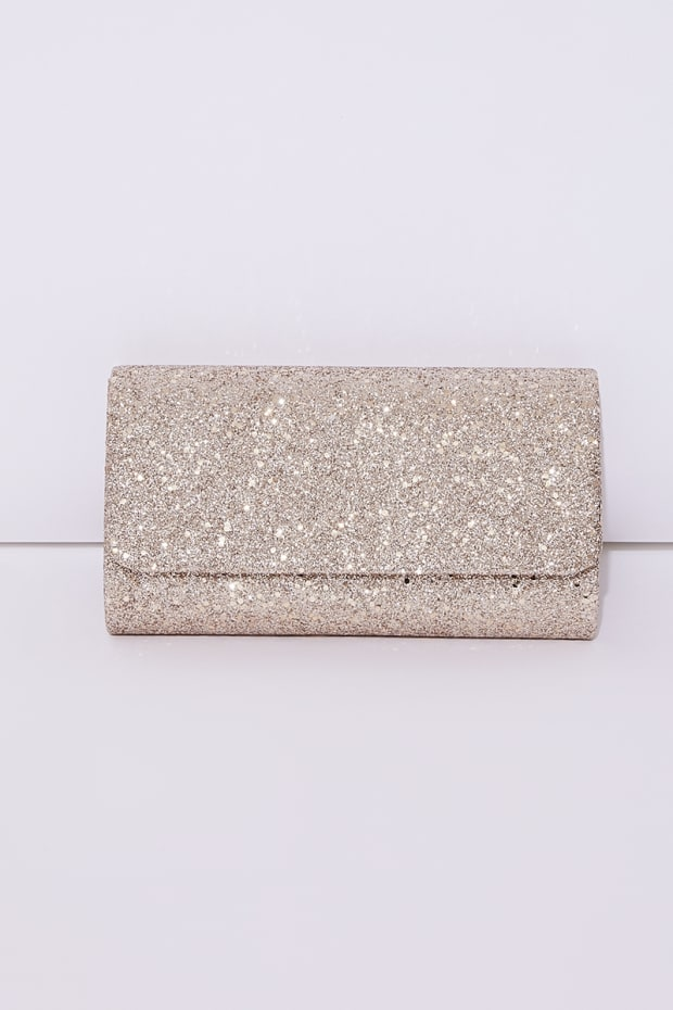 Rose Gold Glitter Clutch Bag  39a69b02a
