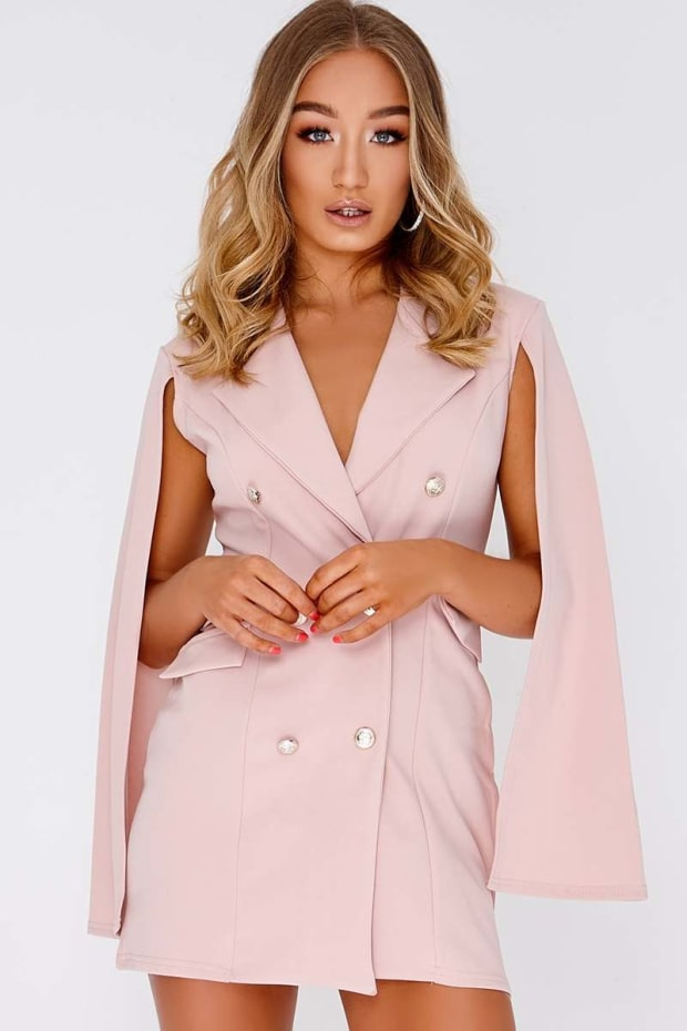 CAILLA NUDE SPLIT SLEEVE BLAZER DRESS