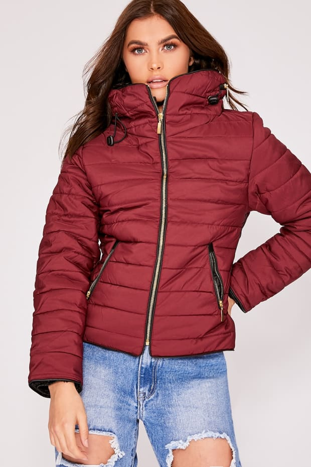 Ossie Wine Padded Jacket In The Style