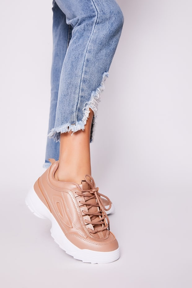 JULLY ROSE GOLD CHUNKY SOLE TRAINERS
