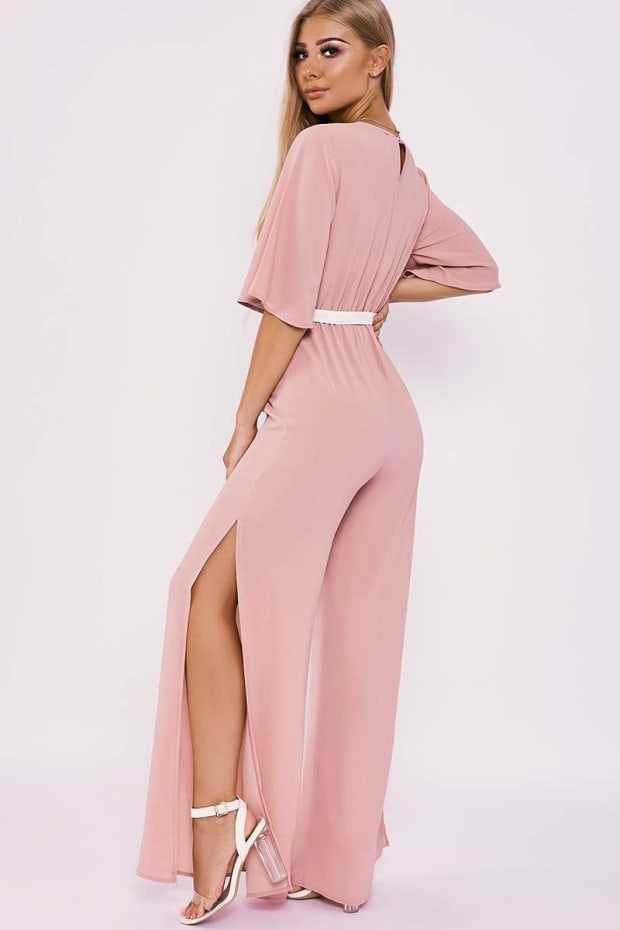 b46bab4f637 BILLIE FAIERS NUDE WRAP FRONT PALAZZO JUMPSUIT. Next
