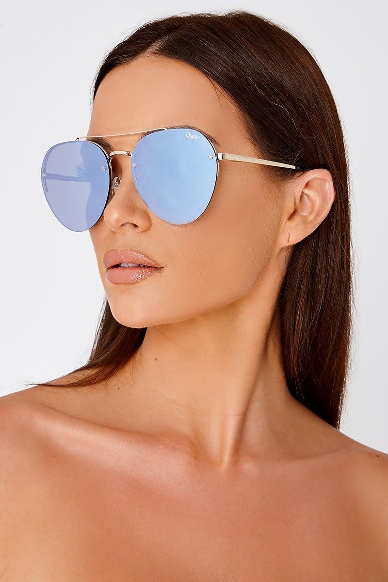 01e5ce1ce0b Quay Somerset Lilac Lens Aviator Sunglasses