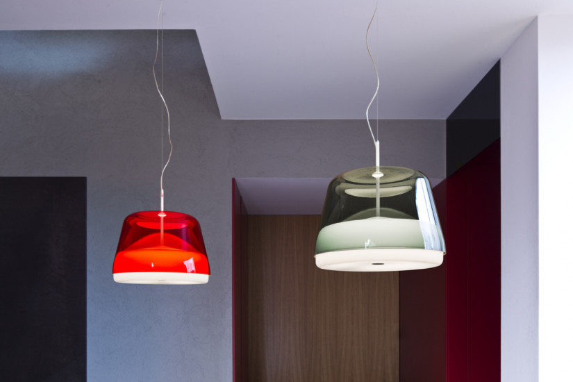 La Belle Eco S5: Suspended lamp Ø480 mm in different finishings