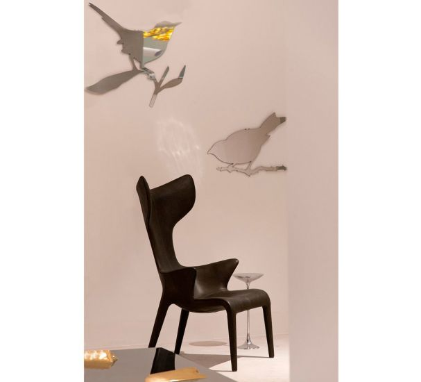 Snijder Bird: Polished stainless steel mirror