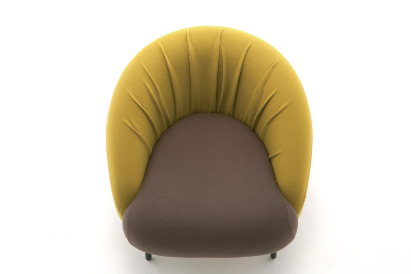 Bump 02: Lounge chair upholstered in different materials