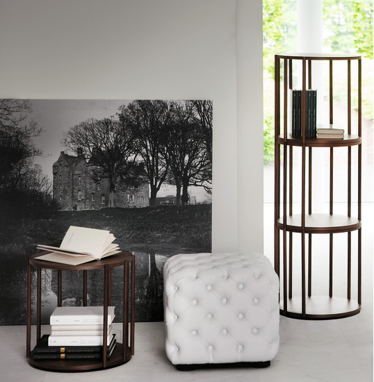 Cell: Bookcase or side table Ø40 cm in different heights