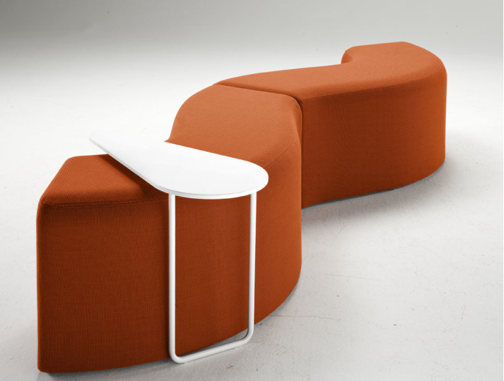 Churros T: Side table with Corian top