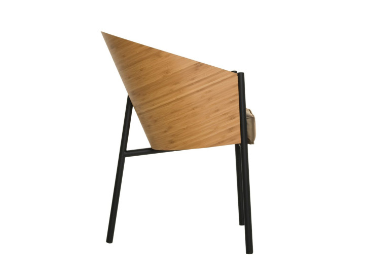 Costes: Armchair with shell in bamboo