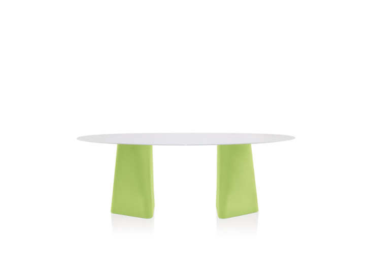 Adam: Table with glass top L 200 cm W 100 cm H 72 cm